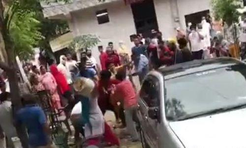 गाज़ियाबाद के साहिबाबाद थाना इलाके में मारपीट की वीडियो आई सामने