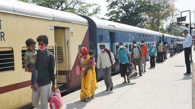 मुंबई से गोरखपुर के लिए चली ट्रेन पहुंची ओडिशा, प्रवासी मजदूरों में मचा हडकंप