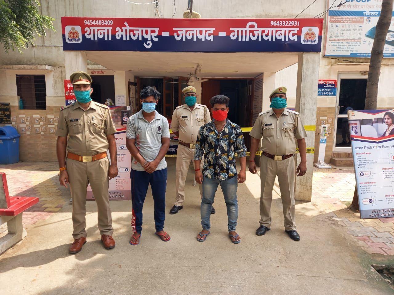 गाजियाबाद के थाना भोजपुर में दो वाहन चोर गिरफ्तार