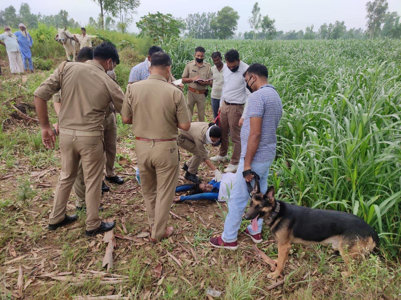 बिजनौर : महिला का संदिग्ध अवस्था में मिला शव, इलाके में फैली सनसनी