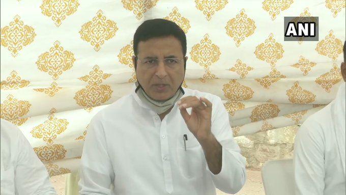 राजस्थान : ऑडियो क्लिप मामले में केंद्रीय मंत्री की हो गिरफ्तारी, सचिन पायलट भी दें सफाई- सुरजेवाला