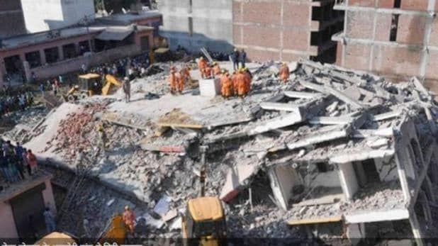 नोएडा: निर्माणाधीन बहुमंजिला इमारत गिरी, हादसे में दो लोगों की मौत, NDRF ने पांच को निकाला