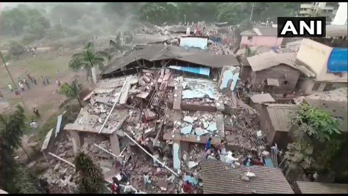 Breaking news: महाराष्ट्र के रायगढ़ में भीषण हादसा, 5 मंजिला इमारत गिरी, 200 से अधिक लोगों फंसे