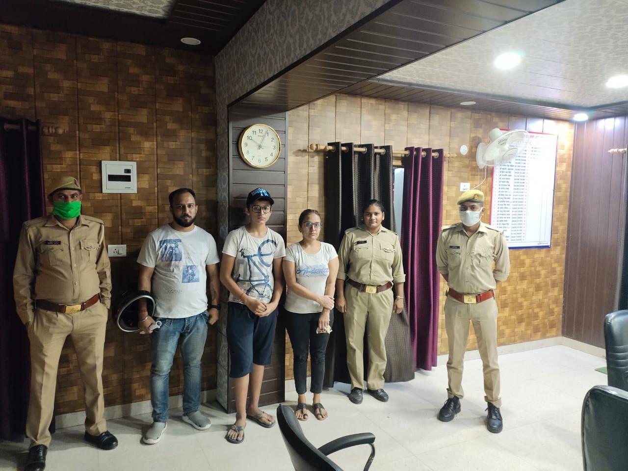 गाजियाबाद में घर से गायब हुए 13 वर्षीय किशोर को पुलिस ने मात्र 3 घंटे में तलाश कर परिजनों को सौंपा