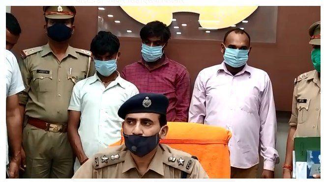 बिजनौर में रंगदारी मांगने वाले तीन अभियुक्त गिरफ्तार