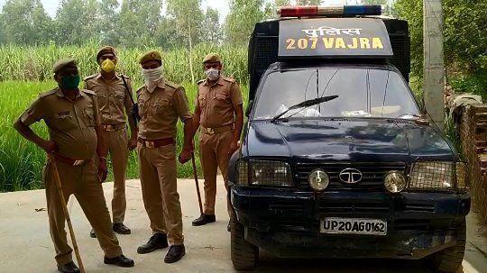 बिजनोर में पुलिस पर पथराव, पुलिस कर्मियों की आंख में डाला मिर्च पाउडर